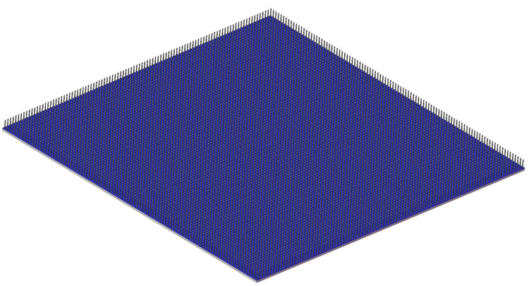 CG Column Grid Array on daisy chain Silicon Substrate  CG10000T 5